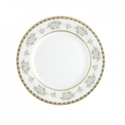 Assiette plate à aile 18 cm Pensée Bucolique en porcelaine