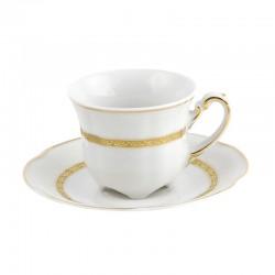 Tasse à café 100 ml avec sa soucoupe Or romanesque