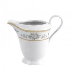 Crémier 300 ml Pensée Bucolique en porcelaine blanche galon or