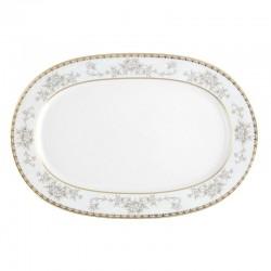 Plat ovale 33 cm Pensée Bucolique en porcelaine