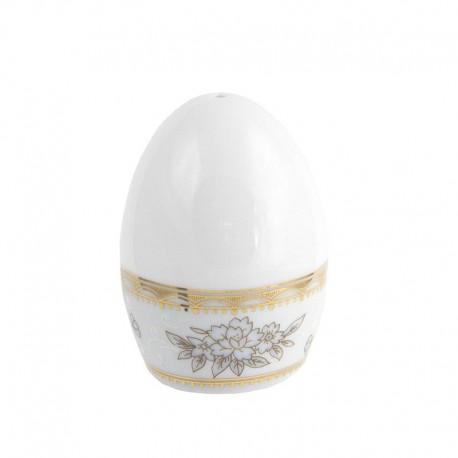 Poivrier Pensée Bucolique en porcelaine blanche galon or