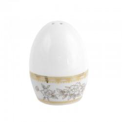 Salière Pensée Bucolique en porcelaine blanche galon or