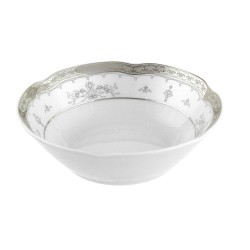 Coupelle 13 cm en porcelaine - Abondance Platinique