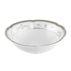 Saladier 17 cm rond en porcelaine - Abondance Platinique