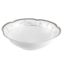Saladier 26 cm rond en porcelaine - Abondance Platinique
