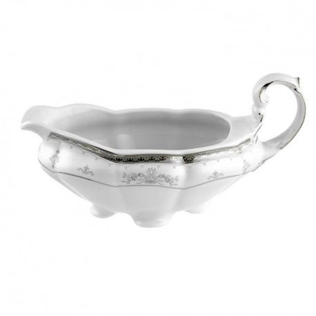 Saucière 500 ml en porcelaine - Abondance Platinique