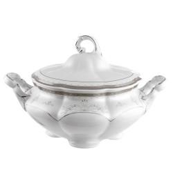 Soupière 2800 ml en porcelaine - Abondance Platinique
