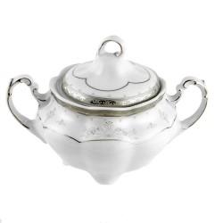 Sucrier 300 ml en porcelaine décorée Abondance Platinique