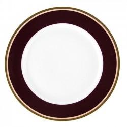 Assiette plate ronde à aile 21 cm Désir en porcelaine