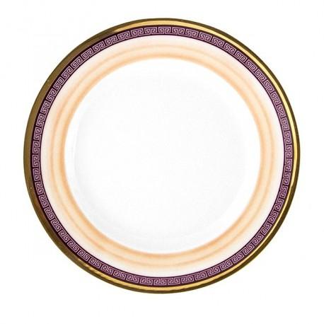 Assiette plate ronde à aile 17 cm Désir en porcelaine