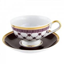 Tasse à thé 220 ml avec soucoupe 14 cm Désir en porcelaine