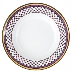 Assiette à aile creuse ronde 22 cm Désir en porcelaine