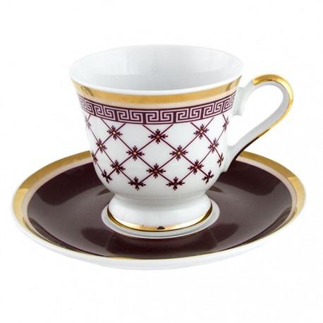 Tasse à café 100 ml avec soucoupe 13 cm Désir en porcelaine