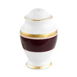 Salière Désir en porcelaine galon or