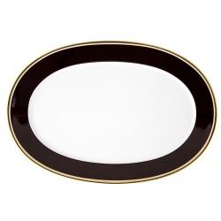 Plat ovale 38 cm en porcelaine Désir