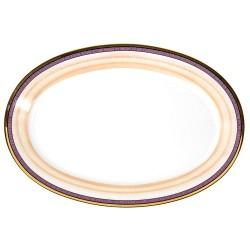 Plat ovale 33 cm en porcelaine Désir