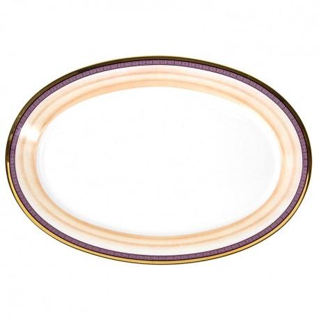 Plat ovale 33 cm Désir en porcelaine galon or