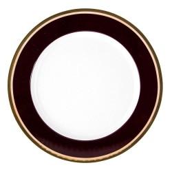 Assiette plate ronde à aile 19 cm Désir en porcelaine