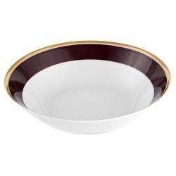 Saladier rond 23 cm en porcelaine Désir