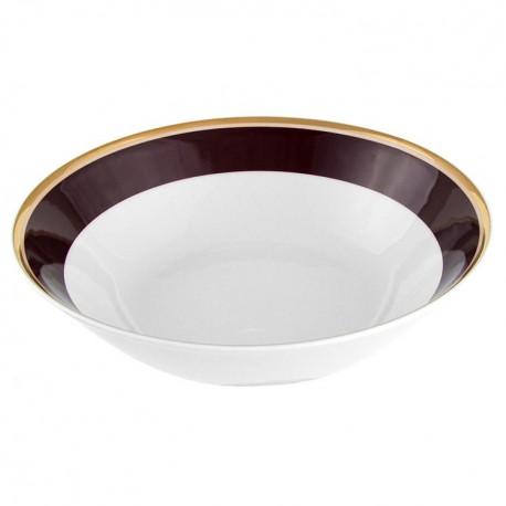 saladier rond 23 cm en porcelaine Désir galon or