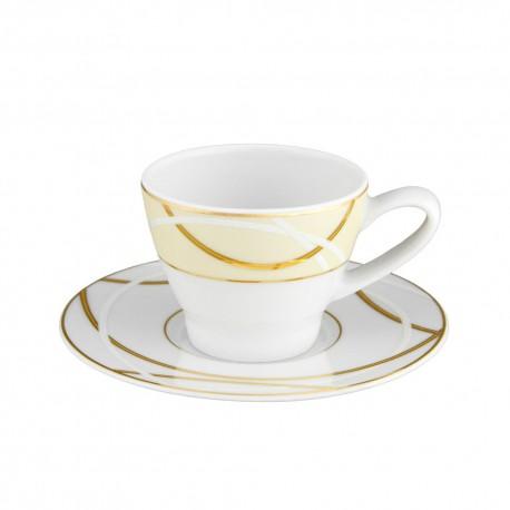 Tasse à café 100 ml avec soucoupe 12 cm Ornelia en porcelaine