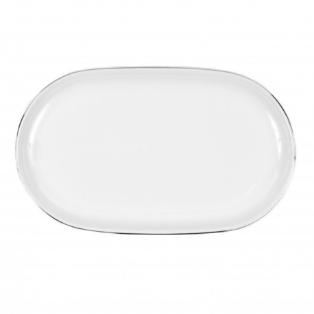 Plat ovale 39 cm Amoureuse en porcelaine