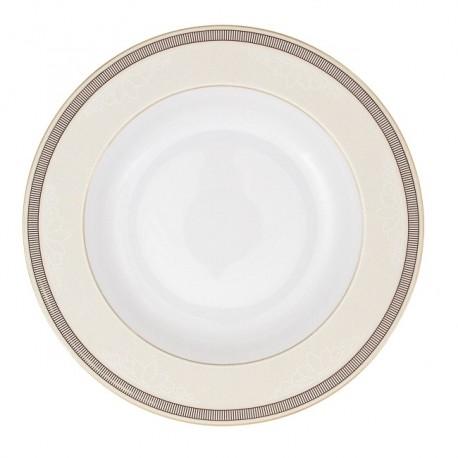 Assiette à aile creuse ronde 22 cm Élégance en porcelaine