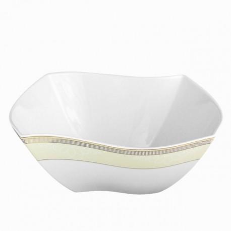 Saladier en porcelaine, service de vaisselle en porcelaine galon d'or