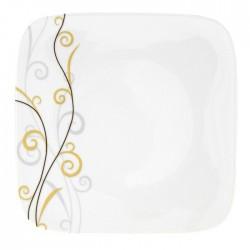 Assiette plate 30,5 cm Virevolte en porcelaine
