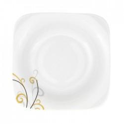 Assiette creuse 24,5 cm Virevolte en porcelaine