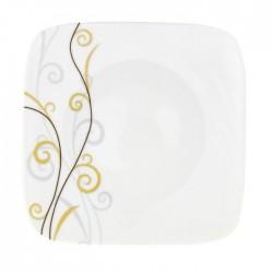 Assiette plate 23 cm Virevolte en porcelaine