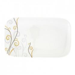 Plat rectangulaire 30,5 cm Virevolte en porcelaine