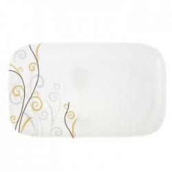 Plat rectangulaire 34 cm Virevolte en porcelaine