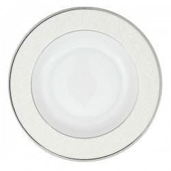 Assiette à aile creuse ronde 22 cm La Roseraie en porcelaine