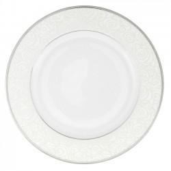 Assiette à aile plate ronde 27 cm la Roseraie en porcelaine