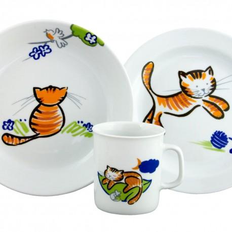 Set Mug Assiette Plate et Creuse Chevrefeuille boîte à fenêtre