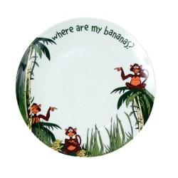 Assiette plate 20 cm Jungle en porcelaine