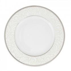Assiette à aile plate ronde 18 cm La Roseraie en porcelaine