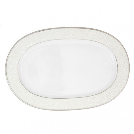 Plat ovale 33 cm La Roseraie en porcelaine