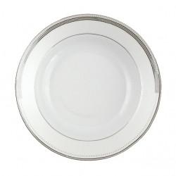 Assiette creuse à aile 22 cm Noces célestes en porcelaine