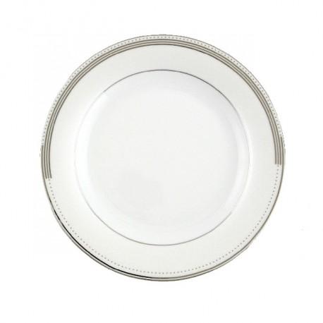 Assiette plate ronde à aile 21 cm Noces célestes en porcelaine