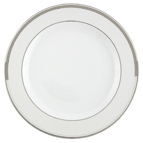 Plat rond à aile 32 cm Hosta en porcelaine