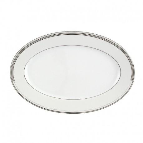 Plat ovale 33 cm Noces célestes en porcelaine