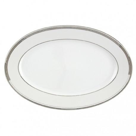 Plat ovale 36 cm Noces Célestes en porcelaine