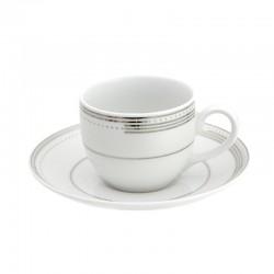 Tasse à café 100 ml avec soucoupe Noces célestes en porcelaine