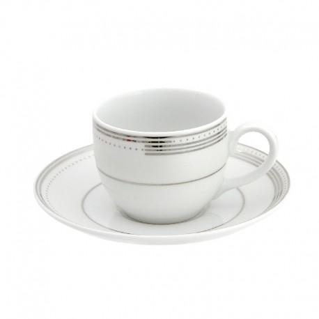Tasse à café vec soucoupe en porcelaine, service à café en porcelaine, service de vaisselle en porcelaine