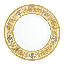 Assiette à aile plate ronde 18 cm Ruban Impérial en porcelaine