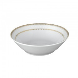 art de la table, service de table complet en porcelaine blanche, vaisselle galon or, coupelle 15 cm en porcelaine