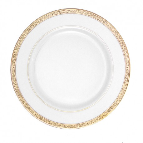Assiette plate ronde à aile 21 cm Totale Excellence en porcelaine