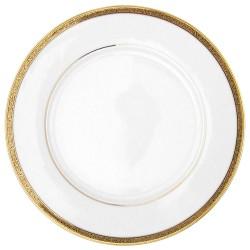 Assiette à aile plate ronde 27 cm Totale Excellence en porcelaine